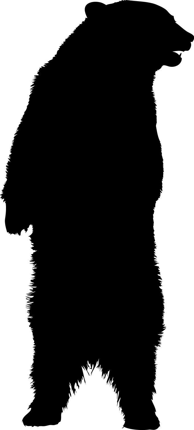 Standing Bear vinyl decal Sizes available:.