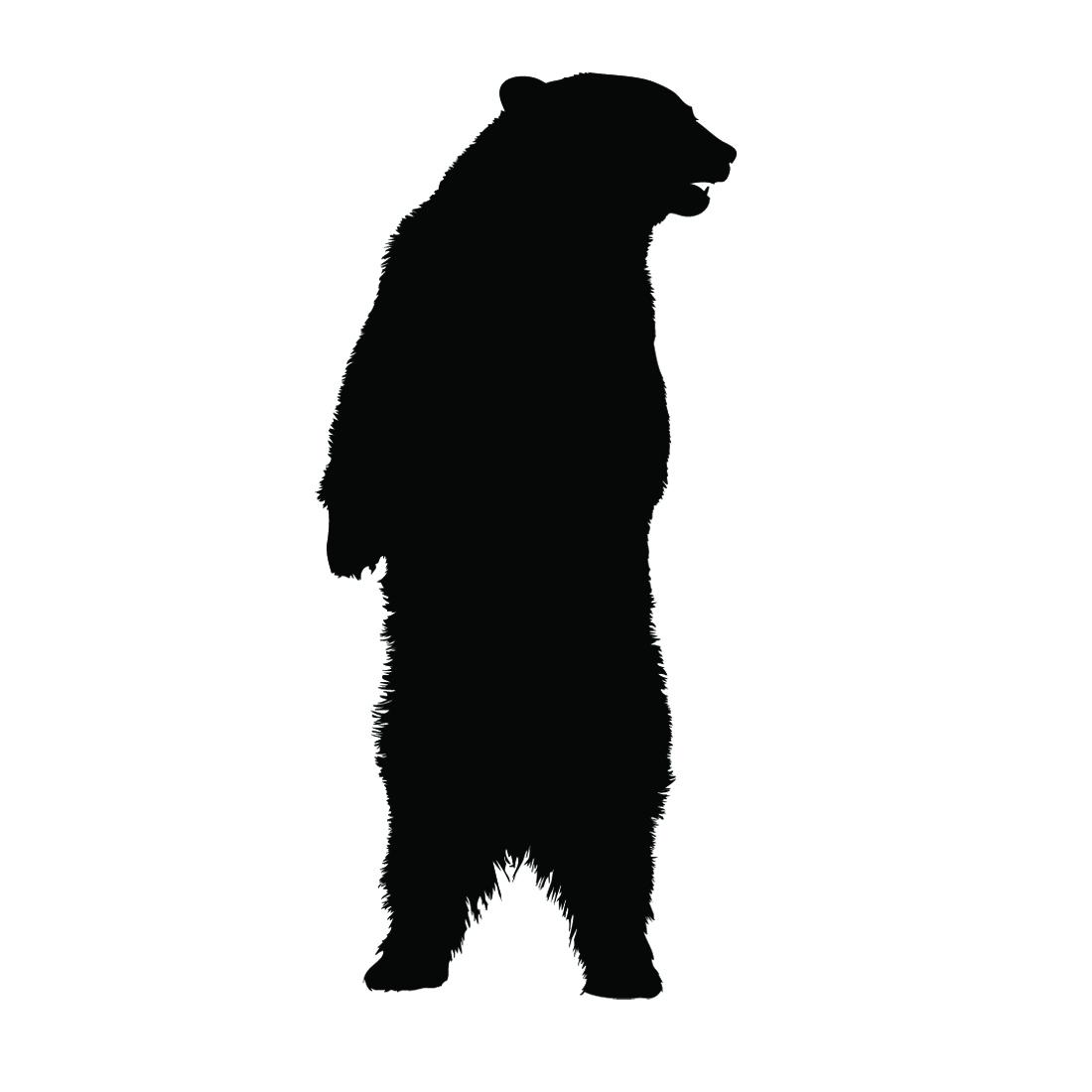 Standing Bear Silhouette.