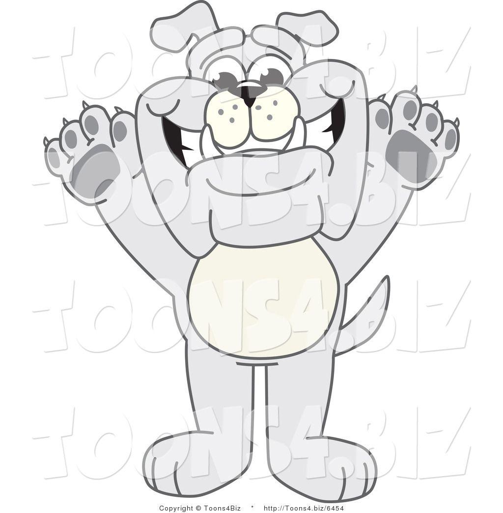 Vector Illustration of a Cartoon Bulldog Mascot Standing.