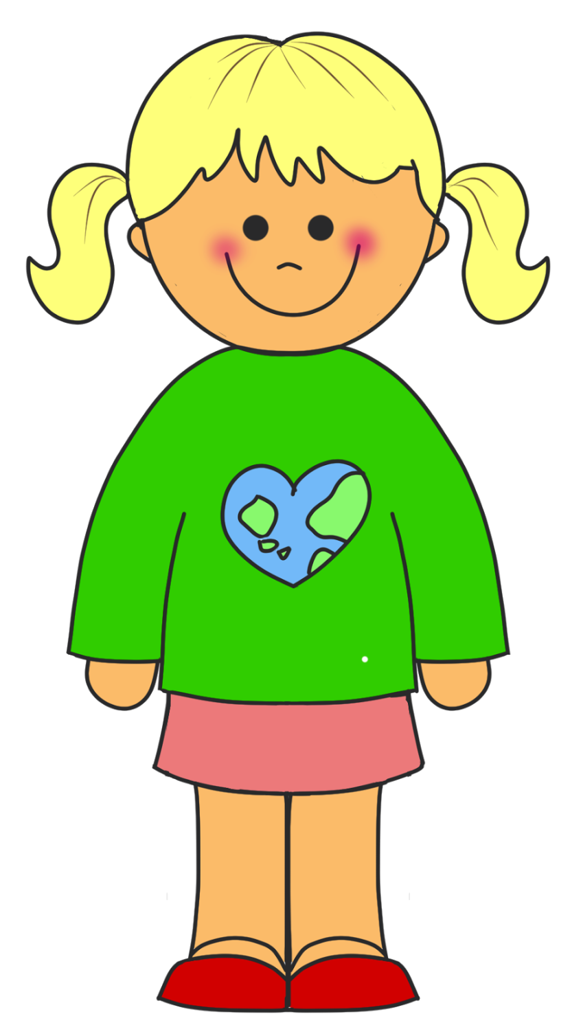Free Girl Standing Clipart Pictures.