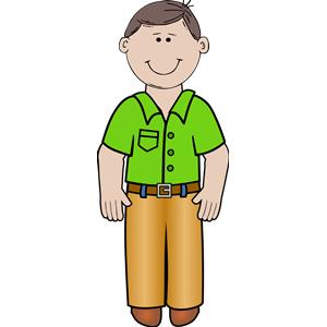 Clip art man standing clipart clipart kid 2.