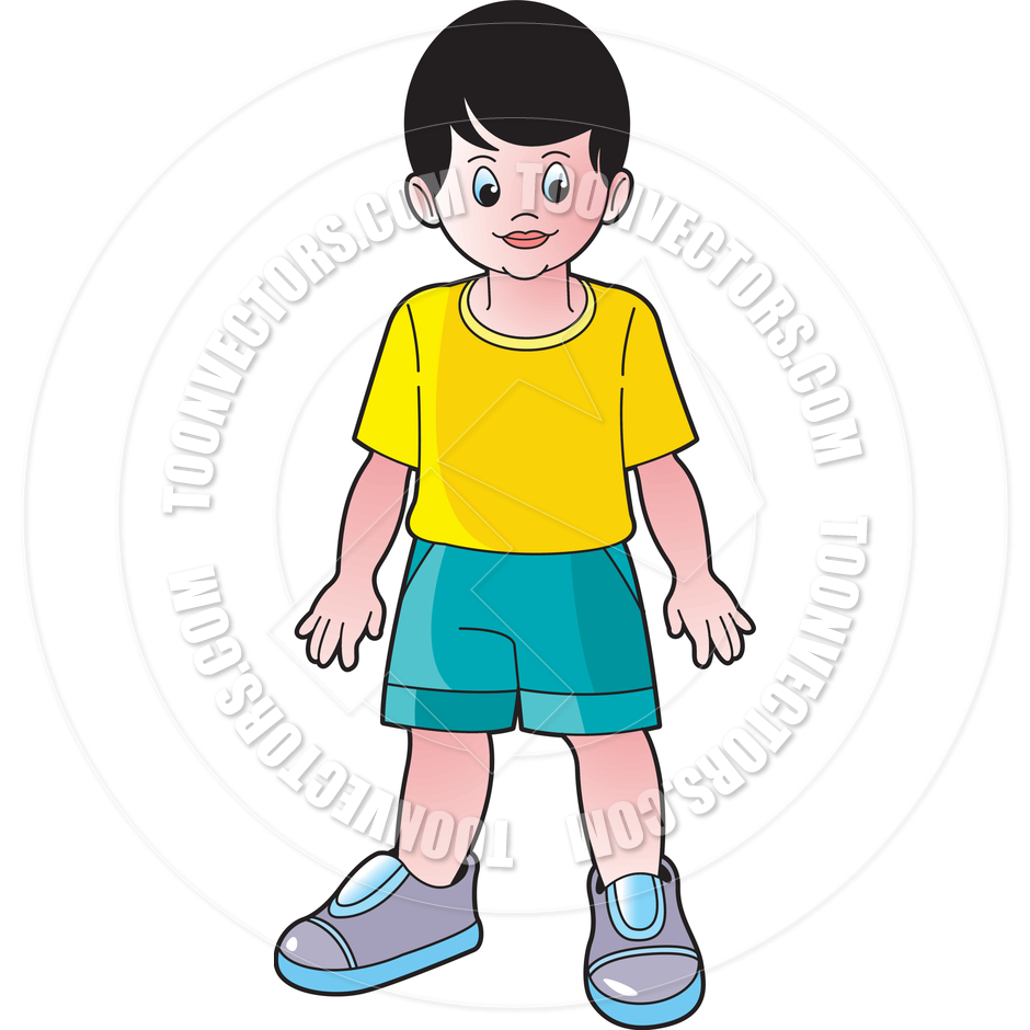 Child Standing Clipart.