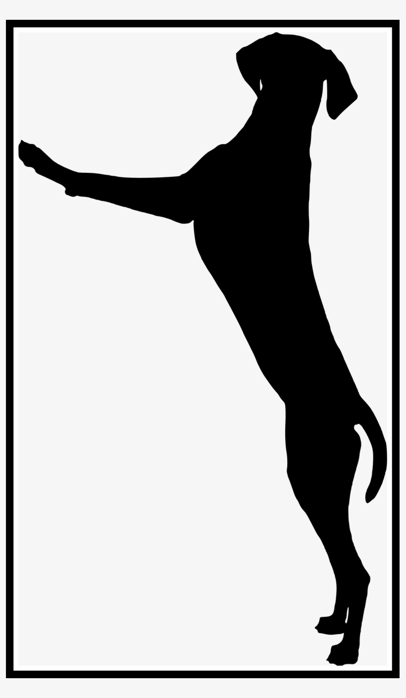 Amazing Dog Standing Playing Silhouette Of Clipart.