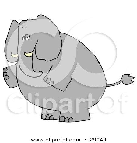 Elephant Standing Clip Art.