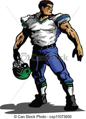 Standing Football Player Clipart.