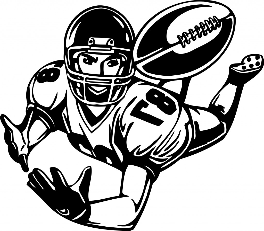 Standing Football Player Clipart.