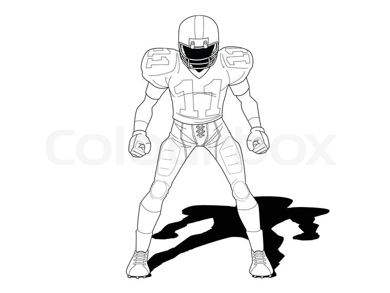 Football player standing on.