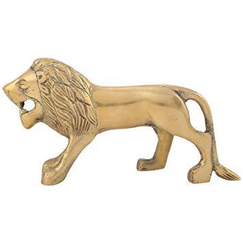Spedy Decorative Brass Logo Standing Lion brassass166.