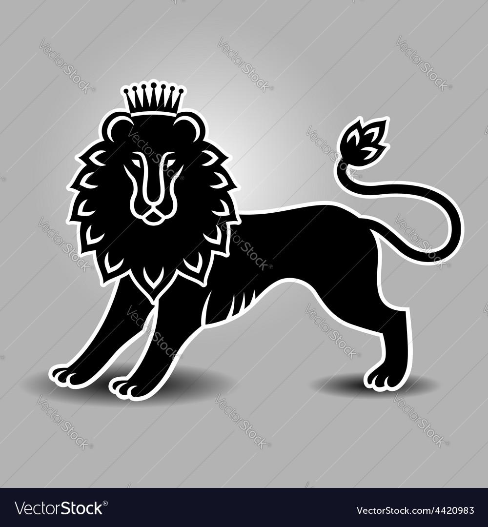 Lion symbol standing.