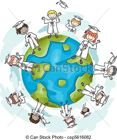 Clip Art of Top of the World.