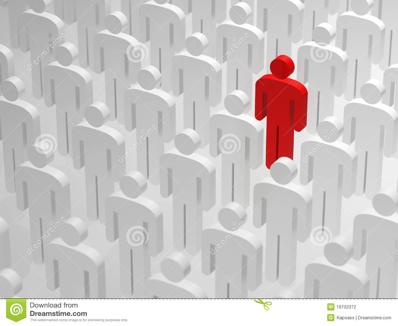 Being Different And Standing Out From The Crowd Stock Photography.
