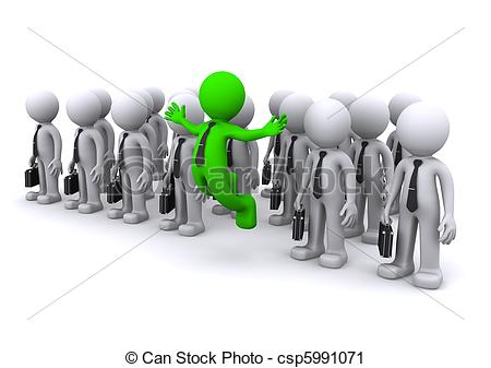 Standing out from the crowd Illustrations and Clipart. 1,851.