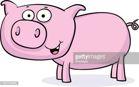 Pig Standing premium clipart.