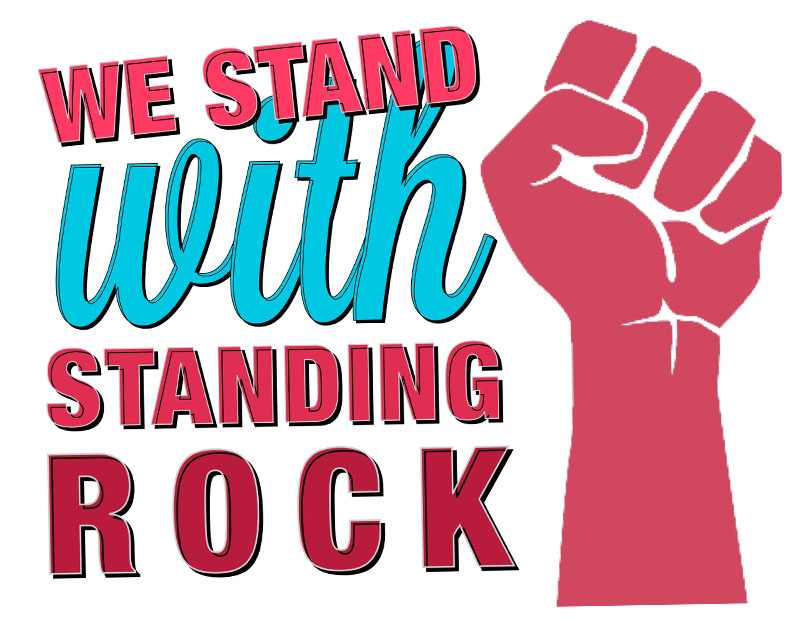 Stand With Standing Rock Sign Printouts by Dirt2.com.