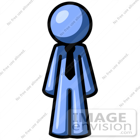 Clipart image of man standing still.