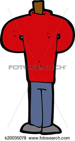 Clip Art of cartoon body standing still (mix and match cartoons or.