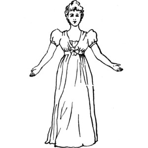 Image Gallery of Standing Woman Clipart Black And White.