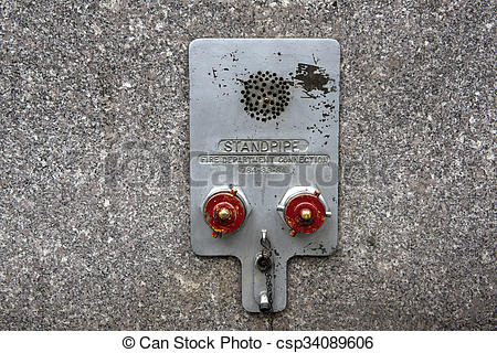 Stock Photography of Standpipe connectors.
