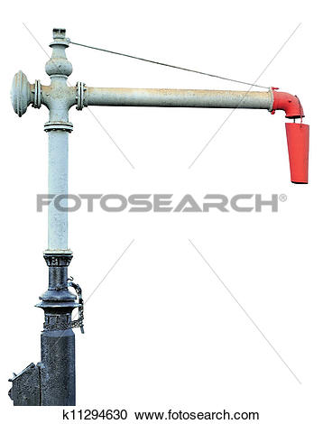 Stock Photography of Steam Train Locomotive Engine Water Crane.