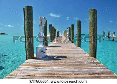 Stock Photo of Staniel Cay yacht club. Exumas, Bahamas k17800054.