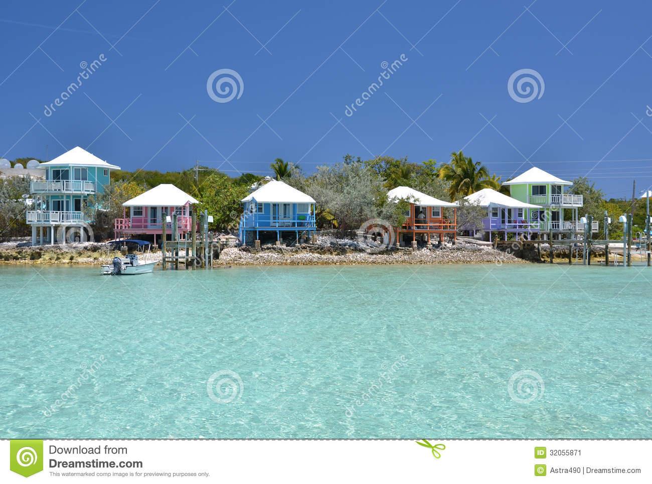 Staniel Cay Yacht Club. Bahamas Stock Image.