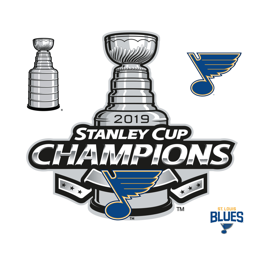 St. Louis Blues: 2019 Stanley Cup Champions Logo.