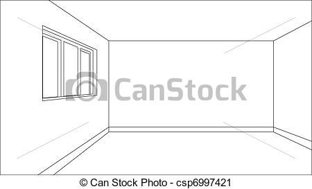 Clipart vettoriali di modello, stanza, virtuale.