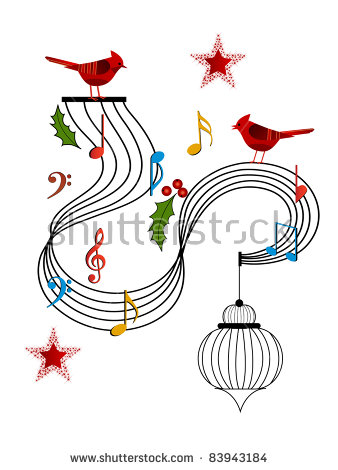 Musical Notes Christmas Stock Vectors & Vector Clip Art.