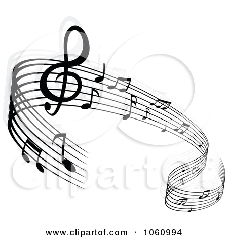 Musical Notes Background Clipart.