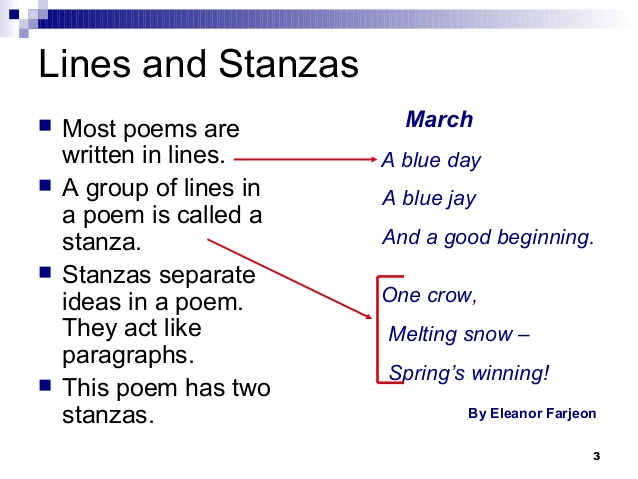 Poetry types of poems.