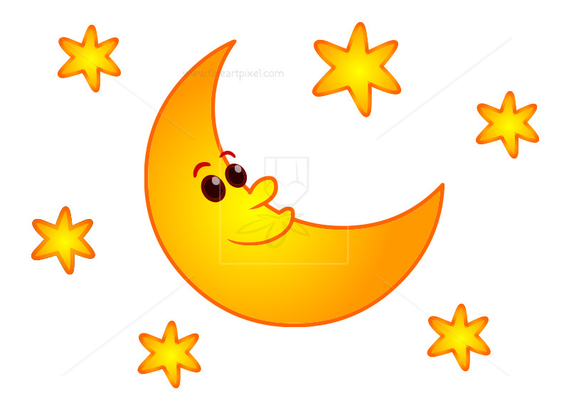 Star and moon clipart » Clipart Station.