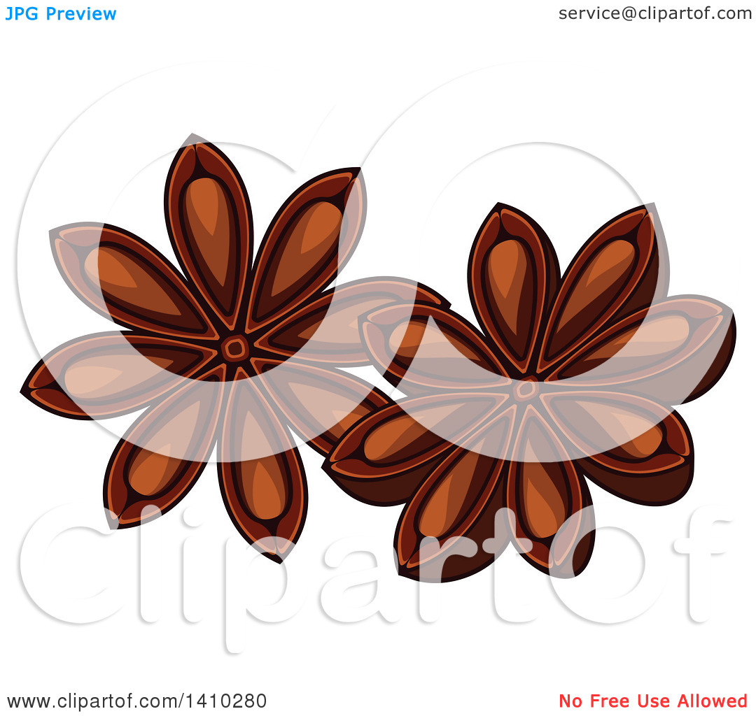 Star anise png free clipart vector.