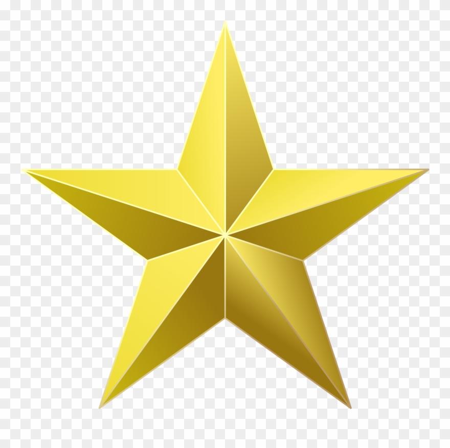 Clip Art Gold Star Award Image.