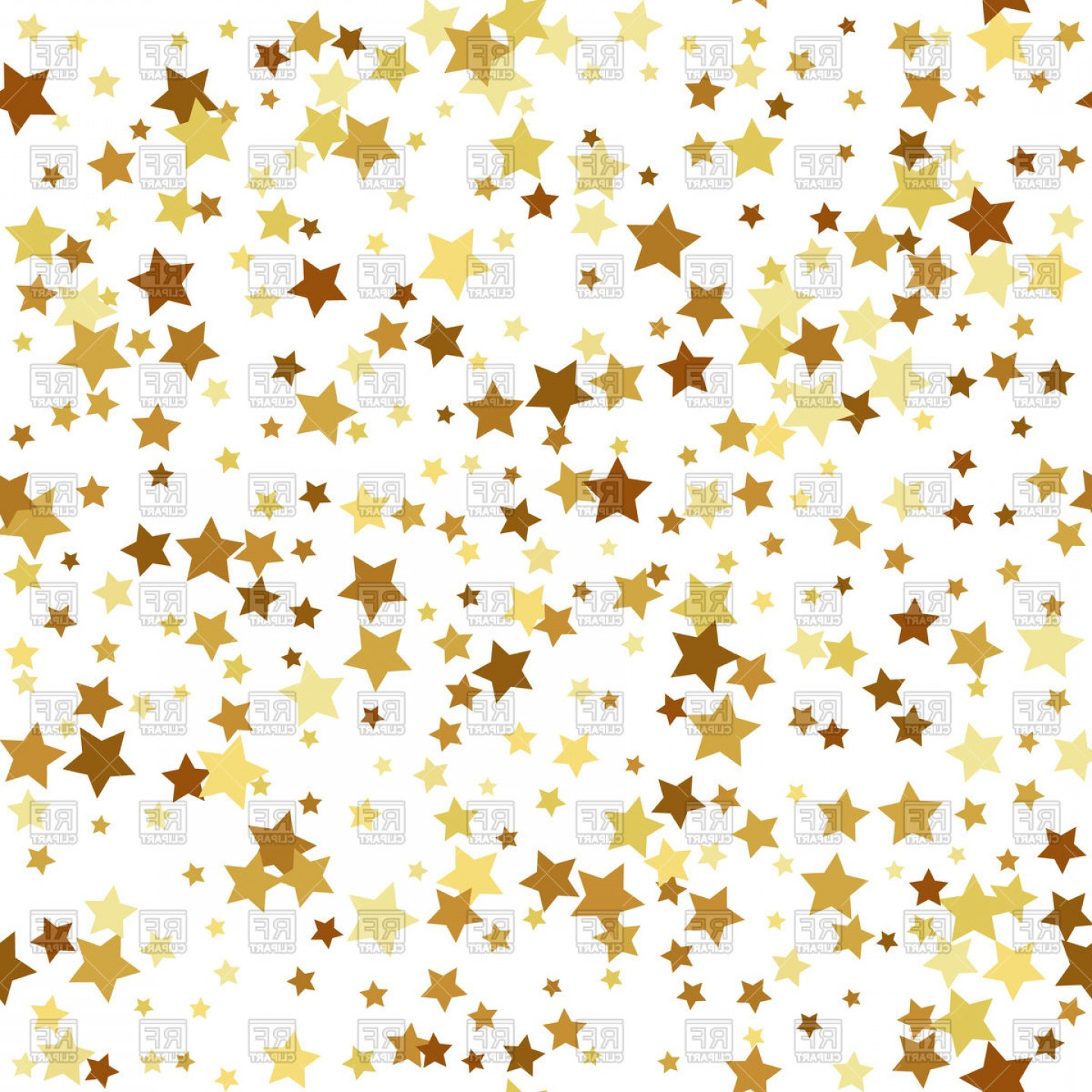 Gold Star Seamless Pattern Background Vector Clipart.