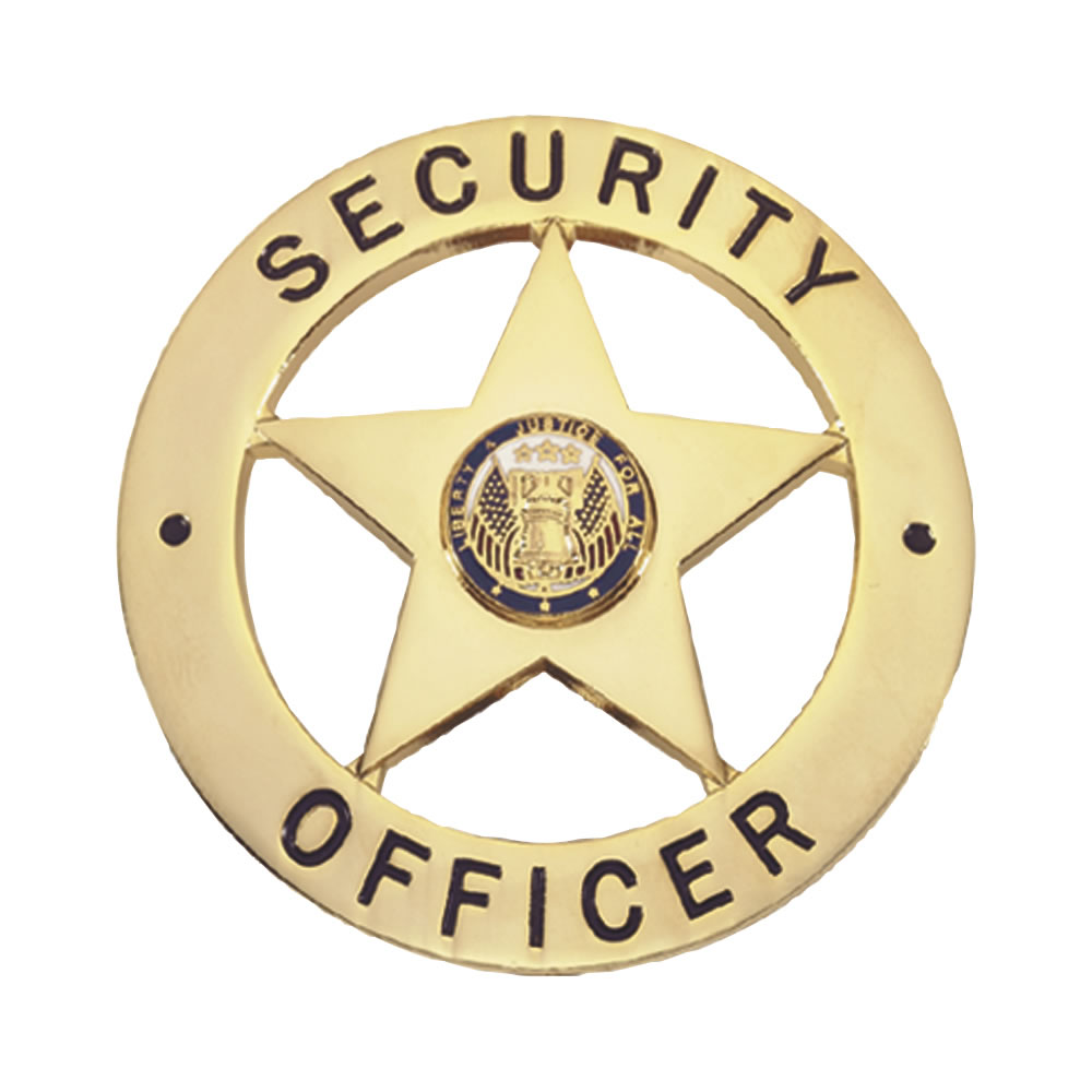 LawPro Security Officer Badge, Star with Circle..