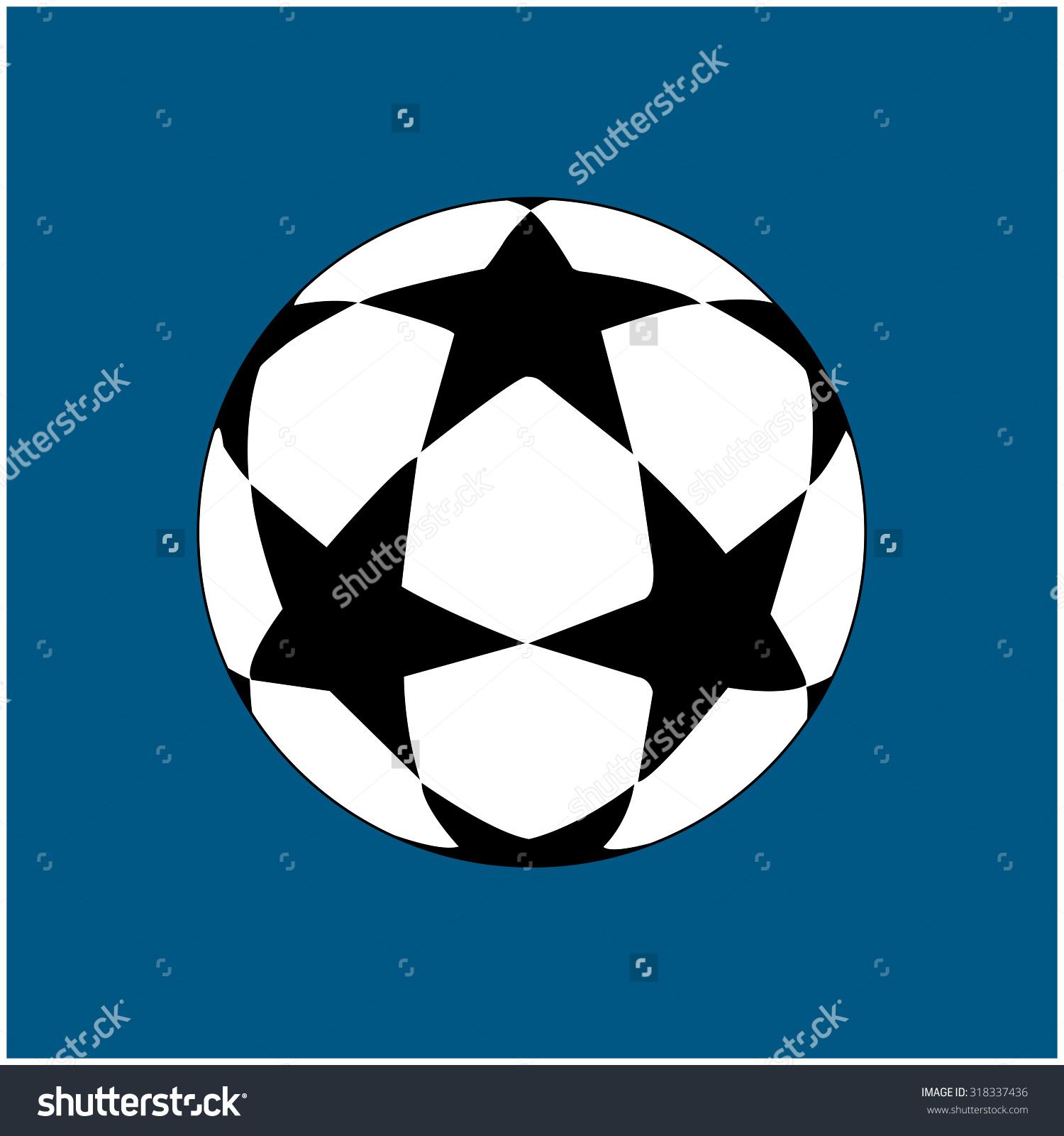 Stars Soccer Ball Stock Vector 318337436.