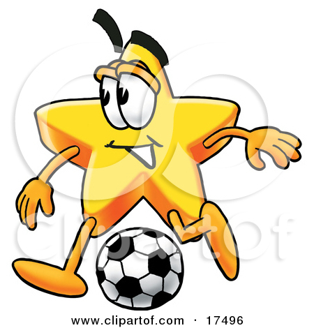 Clipart Picture of a Star Mascot Cartoon Character Holding a.
