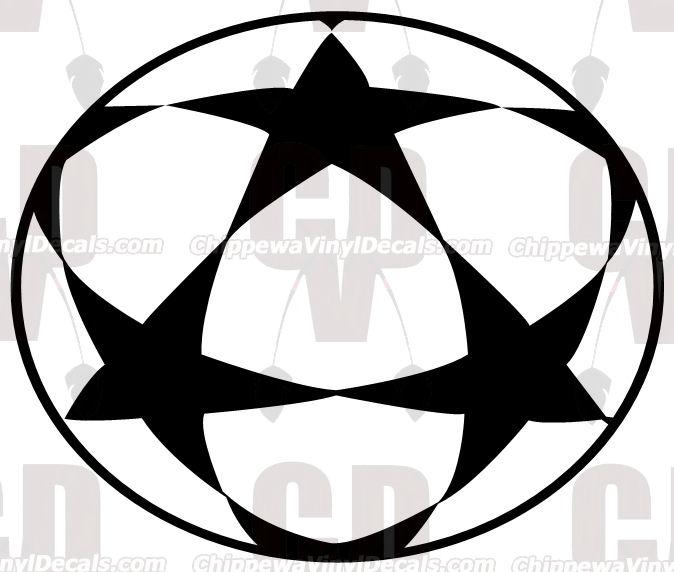 Star Soccer Ball Decal MT1023.