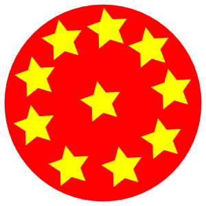 Red Circle With Stars Clip Art at Clker.com.