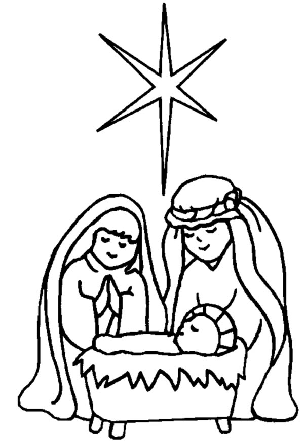 Star of bethlehem new birth clipart.