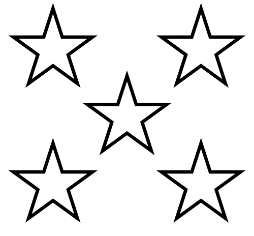 Star black and white 5 stars clip art library.