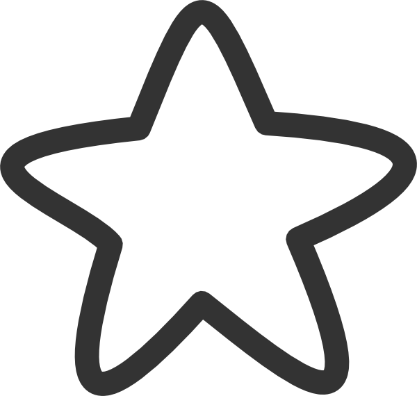 Black And White Star Clip Art at Clker.com.