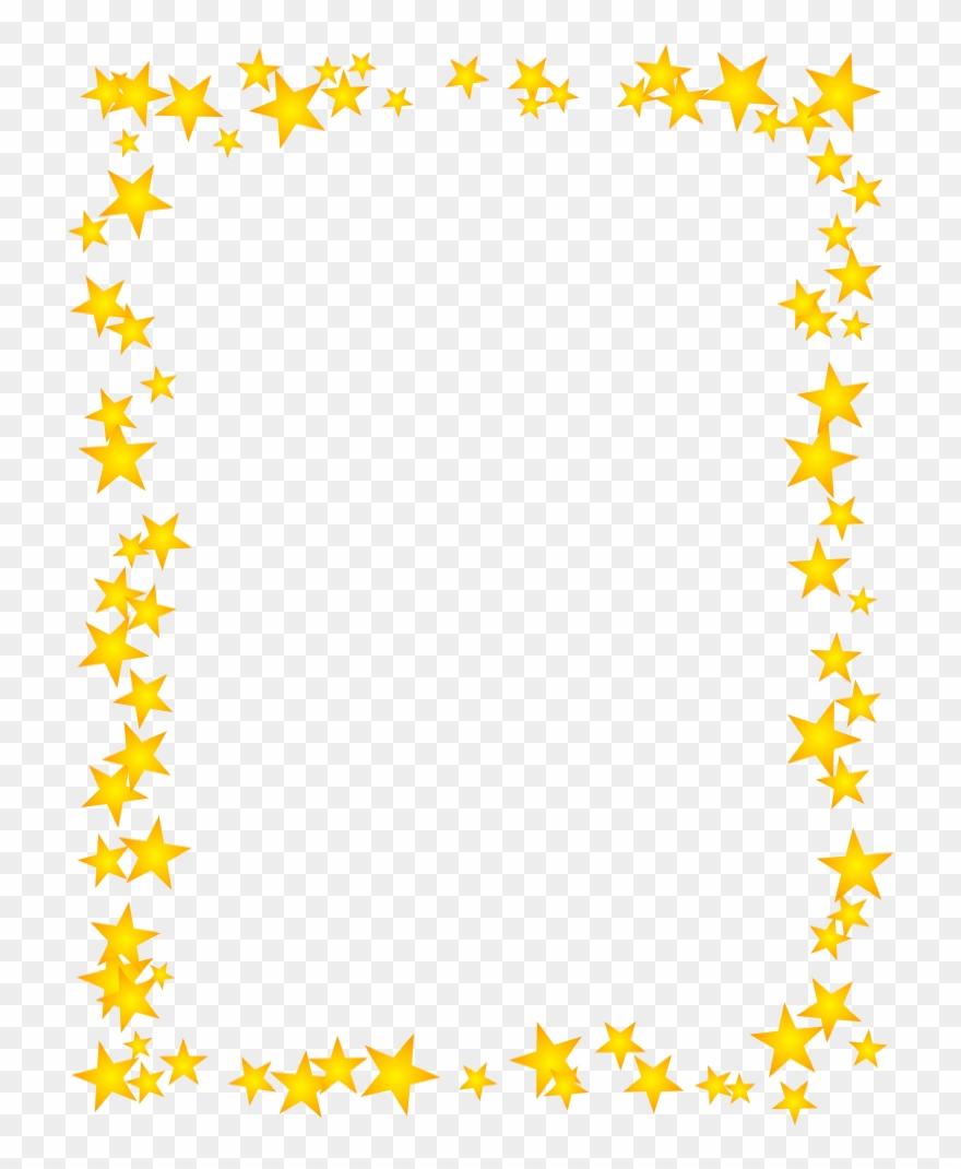 Gold Star Border Dromhja Top Clipart.