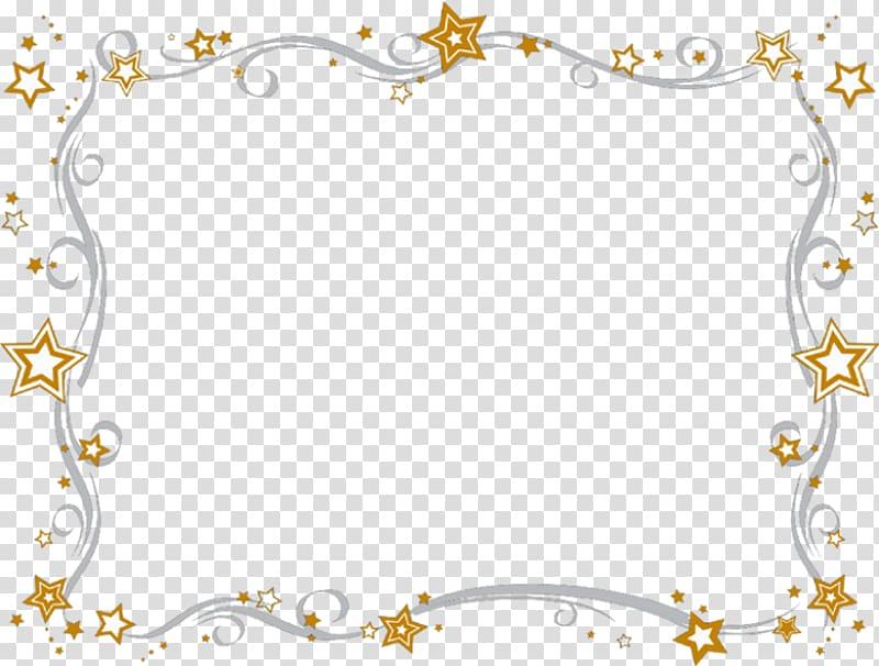 Orange and white stars boundary frame , Color Star , border.
