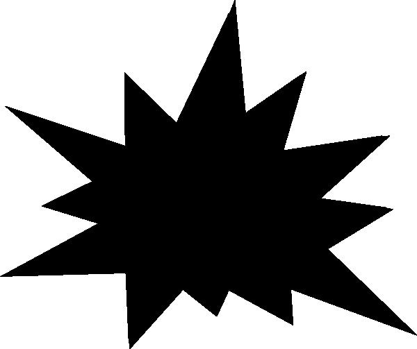 Starburst Clip Art Outline.