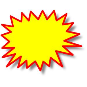 Star burst clipart #8