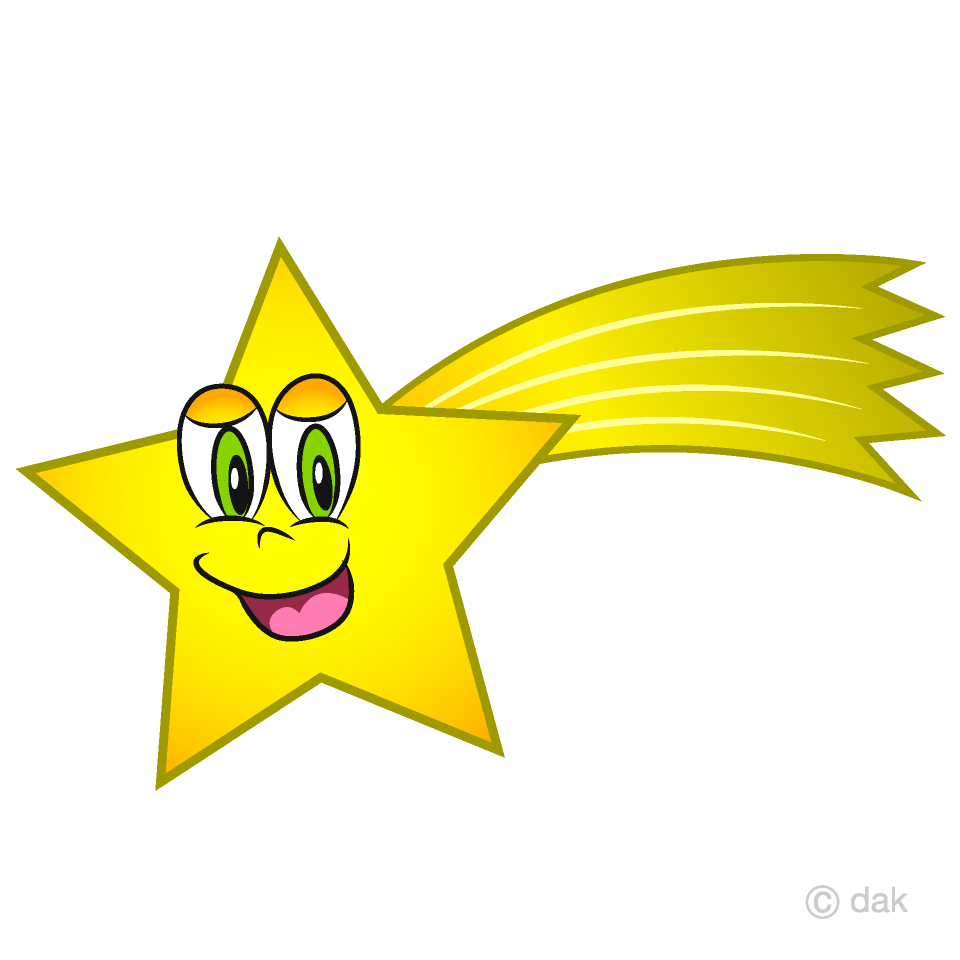 Free Shooting Star Cartoon Character Image|Illustoon.