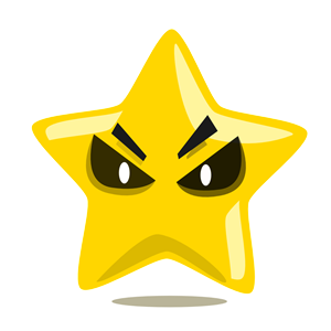 Evil Star character cute clipart, cliparts of Evil Star.