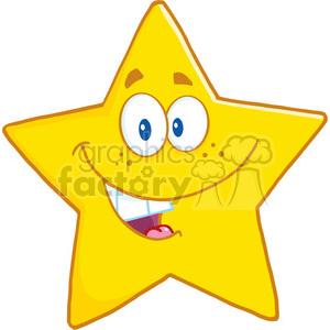 6716 Royalty Free Clip Art Smiling Star Cartoon Mascot Character clipart.  Royalty.