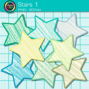 Star Clip Art {Behavior Chart, Reward Coupon, Classroom Management Use} 1.